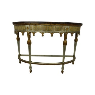 Maitland-Smith Silver & Gold Gilt Regency Console
