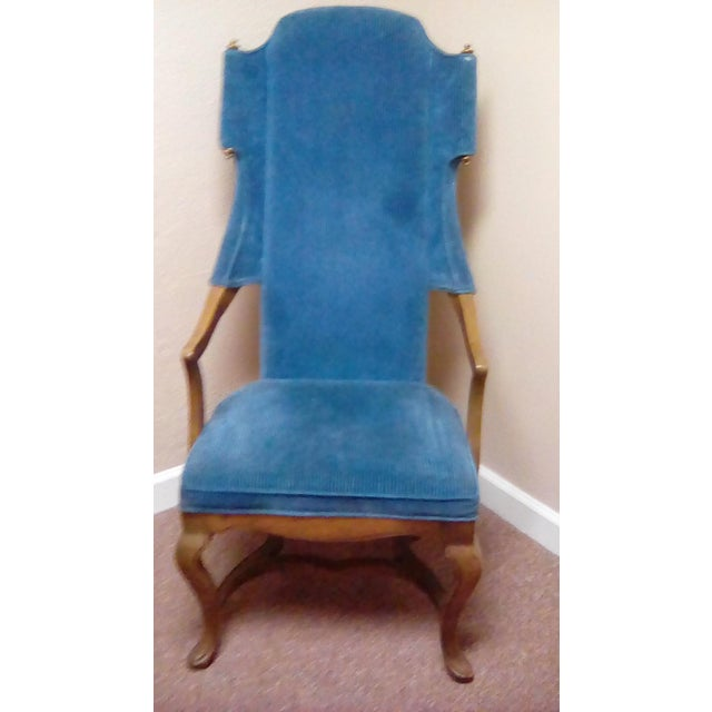 Jim Peed Esperanto Drexel Wingback Chair - Image 2 of 9