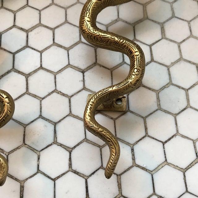 Gold Brass Cobra Door Handles- a Pair - Image 7 of 11