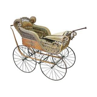 Heywood Wicker Baby Carriage