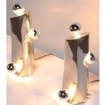 Image of Mid-Century Modern Polished Chrome Free-Form Table Lamps