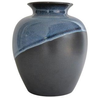 Black & Blue Glazed Flower Pot