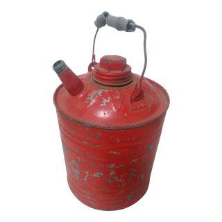 Vintage Red 1 Gallon Gas Jug