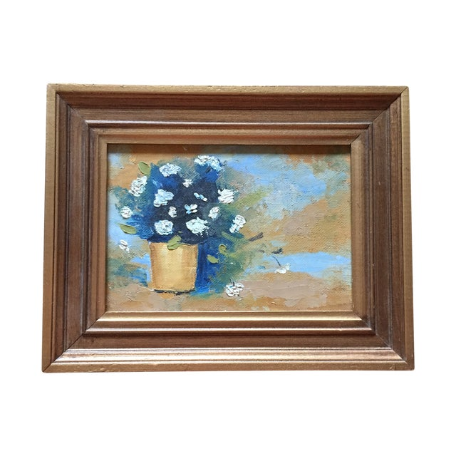 Floral Oil Painting in Gold Frame - Image 1 of 4