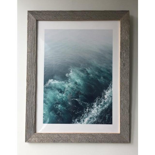 Image of Ocean Wake Framed Photograph