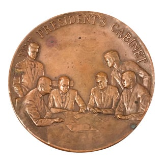 Maco NY Bronze Medallion President Paperweight