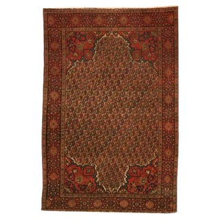 Antique Persian Tabriz Boteh Rug - 4′2″ × 6′2″