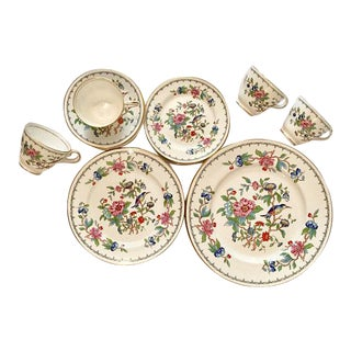John Aynsley Gold Trim Pembroke Bone China Dinnerware - Set for 4