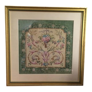 Early 19th Century Framed Wallpaper