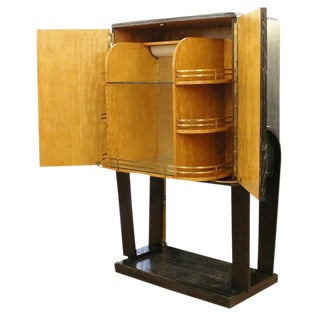 Italian 1940's Cerused Oak Dry Bar