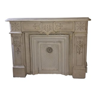 1880's White Marble Mantle