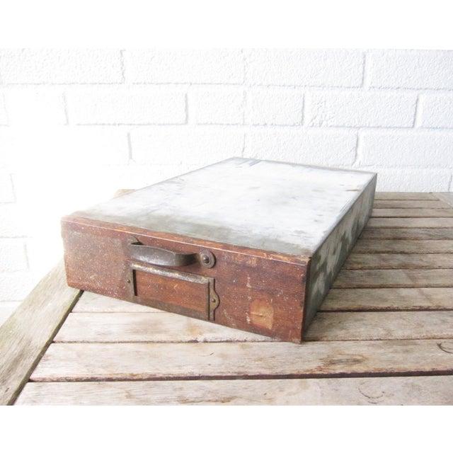 Vintage Rustic Wood & Metal Drawer Box - Image 6 of 6