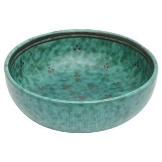 Gustavsberg Argenta Sterling Silver Overlay over Porcelain Small Bowl