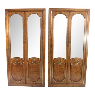 Weiman China Curios Display Cabinets - A Pair