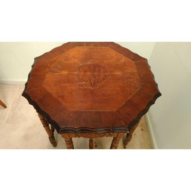 Antique Eight-Leg Octagonal Side Table - Image 3 of 4