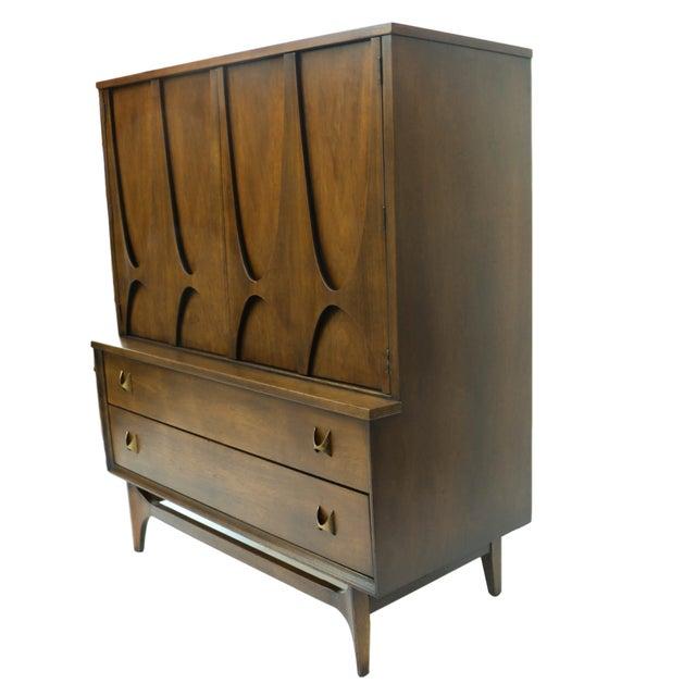 Mid-Century Brasilia Broyhill Highboy Dresser - Image 5 of 10