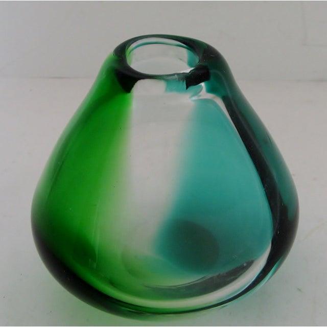 Erickson Vintage Blue & Green Glass Vase - Image 3 of 6