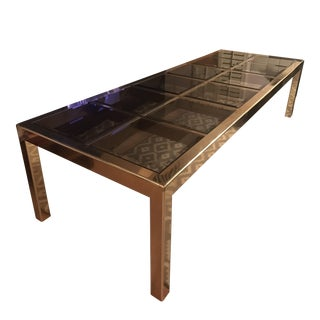 Mid-Century Mastercraft Brass Expandable Table