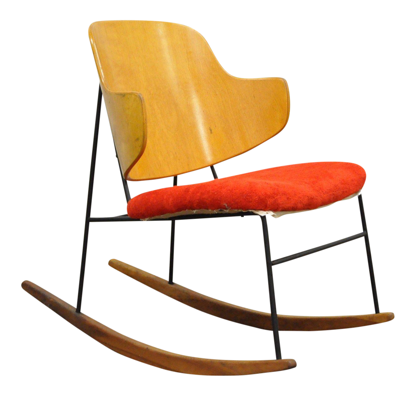 Vintage Mid Century Danish Modern Kofod Larsen Penguin Rocking Chair