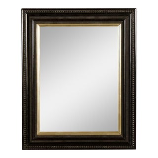 Antique Dutch Ebonized Black Frame Mirror circa 1875 (25 1/2″w x 31 1/2″h)