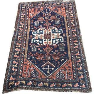 "Antique Tribal Persian Lori/Luri Bakhtiari Rug - 3'4"" X 5'6"""