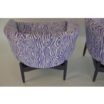 Image of Pair of Lawrence Peabody Upholstered Barrel Back Lounge Chairs