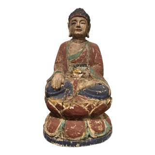 Chinese Antique Seated Buddha Sculpture