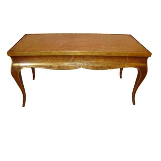 Hollywood Regency Style Jansen Gilt Gold Coffee Table