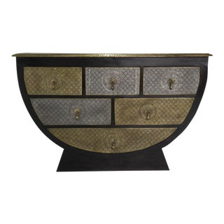 Indian/Rajasthani Brass Inlaid Sideboard/Buffet