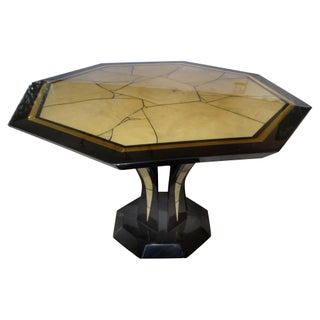 Italian Lacquered Faux-Marble Table