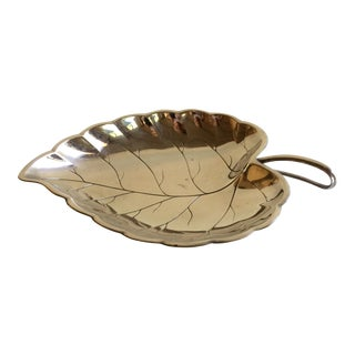 Vintage German Silver Plated Leaf Dish