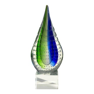 Sculptural Murano Glass Teardrop Bookend or Paperweight