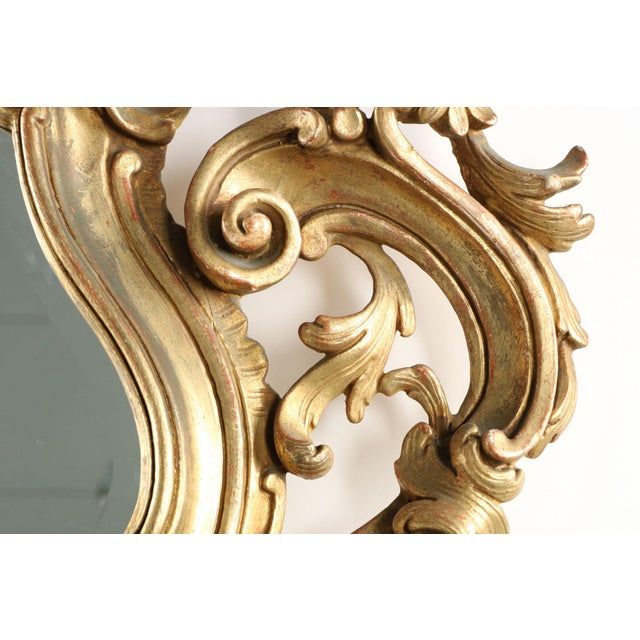 French Louis XV Style Carved Giltwood Antique Mirror - Image 3 of 10