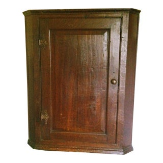 Late 1800s Georgian Corner Cupboard