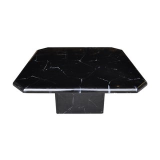 Black and White Faux Marble Coffee Table