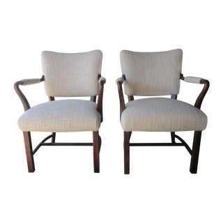Rosewood Guest Chairs - a Pair
