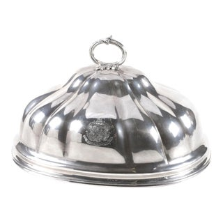 19th C Sheffield Plate Dome Meat Server by Smith, Sissons & Co