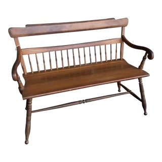 Early American Maple Bench