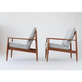 Grete Jalk for France & Son Teak Lounge Chairs - a Pair