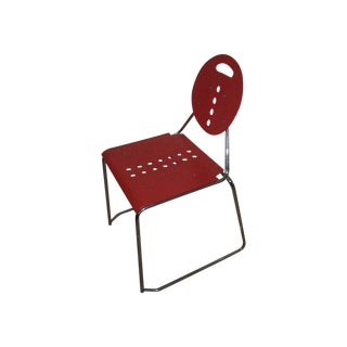 1980s Red Memphis Style Chairs - Set of 4