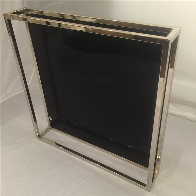 Mid-Century Chrome & Black Lacquered Tray - Image 3 of 6