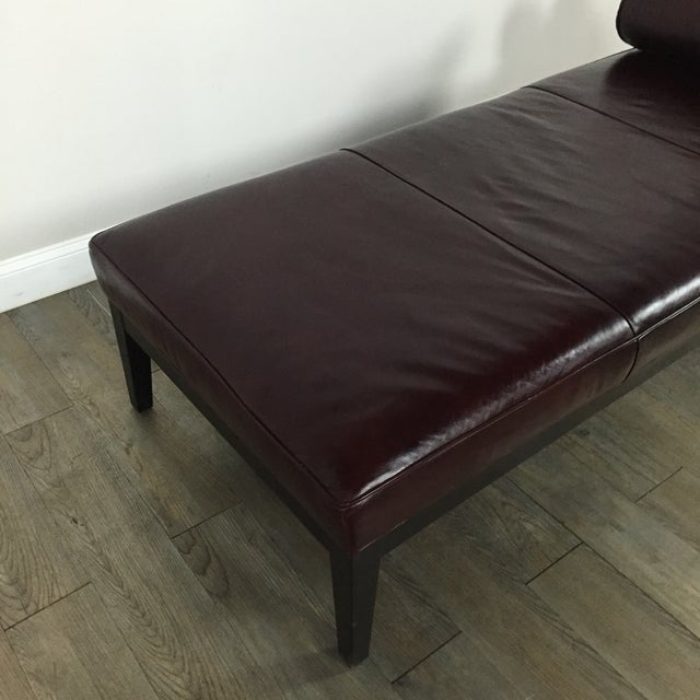 Image of Crate & Barrel Leather Chaise Lounge