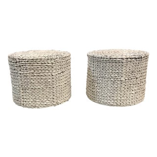 Seagrass Hassocks - A Pair
