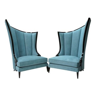 Overscale Hollywood Regency Chairs - A Pair