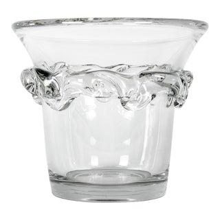 Vintage France Daum Crystal Ice Bucket