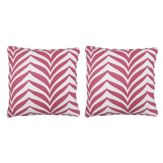 Katherine Rally Pink Madagascar Pillows - Pair