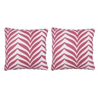 Katherine Rally Pink Madagascar Pillows - Pair