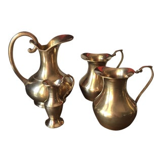 Brass Pitchers Collection - Set of 4