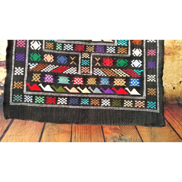 Moroccan Oued Zem Black Cotton Area Rug - 3′ × 4′6″ - Image 4 of 11