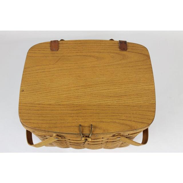 Vintage Longeberger Picnic Basket - Image 3 of 10